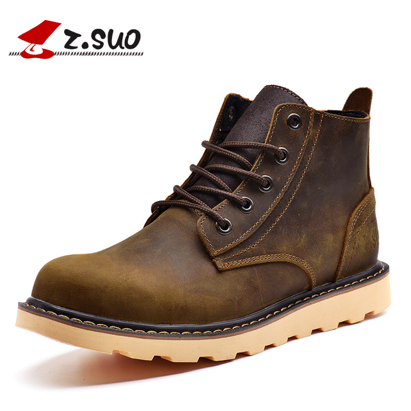 Z. Suo women 's boots, genuine leather fashion female boots, high-grade quality leisure work boots ankle bots. Zs359N super star 3