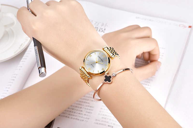 Frauen Armbanduhr 2020 Luxus Marke Contena Damen Quarzuhr Volle Edelstahl Weibliche Uhr Armbanduhren reloj mujer
