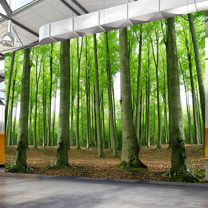 3D Wallpaper Modern Green Forest Tree Photo Wall Mural Living Room TV Sofa Restaurant Background Wall Paintings Papel De Parede