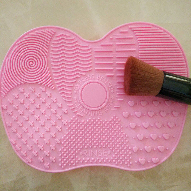 Cepillo de maquillaje de silicona para la limpieza de la alfombrilla herramientas de lavado de la mano herramienta de limpieza de cepillo de limpieza