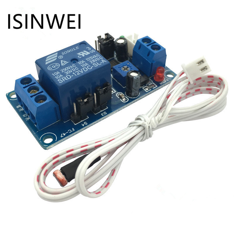 12V photosensitive resistance relay module vehicle induction light-operated delay automatic headlight switch control module