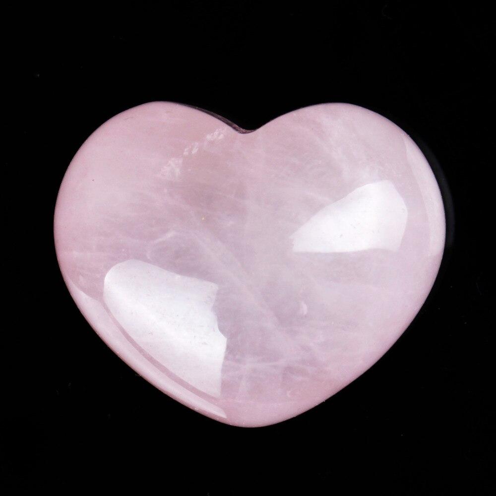 30mm Rose Quarz Herz Form Decoratioan Natürliche Stein Reiki Healing Kristall Chakra Geschnitzt Feng Shui Carfts Mit Freies Pouch Billigverkauf 50%
