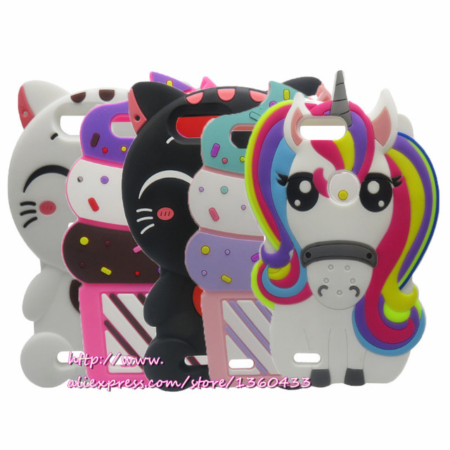 Cute 3D Silicon Cupcake Cartoon Cat unicorn Soft Phone Back Skin Cover Case for ZTE Z982 / Blade Z MAX Pro 2 6.0 inch