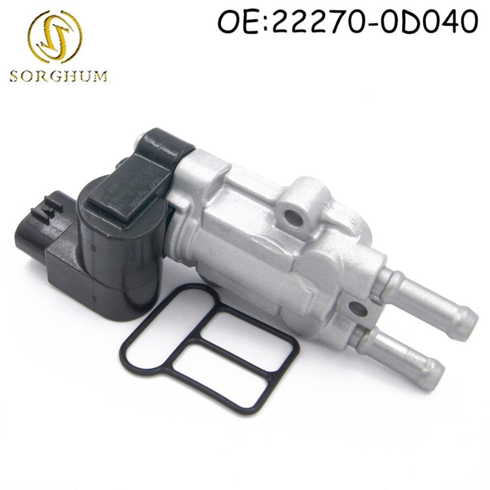 22270-0D040 Idle Air Control Valve IAC Valve with Gasket For Toyota Corolla