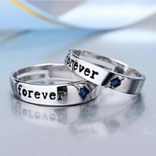 2017 new arrival hot sell romantic love forever lovers`couple rings 925 sterling silver lovers wedding ring jewelry gift цена в Москве и Питере