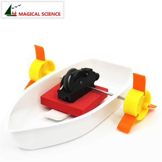 MAGICAL SCIENCE Steam boat experiment Homemade steam driving <font><b>force</b></font> Boat DIY materials,home school educational kit for students