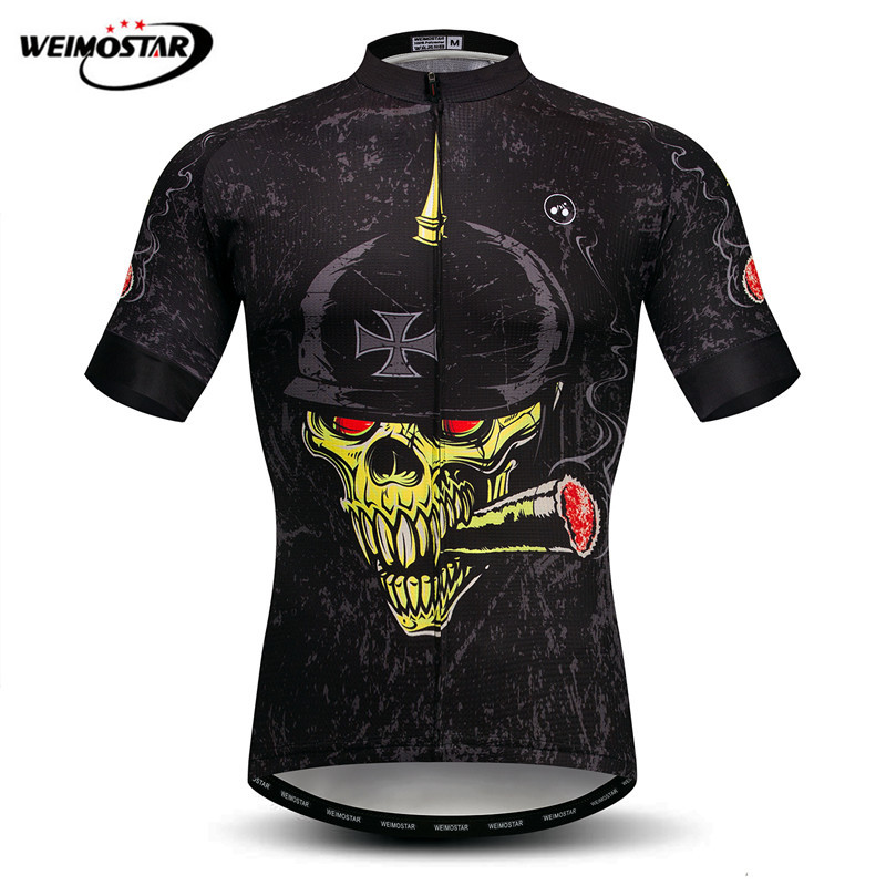 Weimosar Skull Cycling Clothing Summer mtb Cycling Jersey Men Mountain Bike Clothing Maillot Ciclismo Quick Dry Cycling Shirt