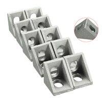 10pcs 20x20mm Aluminium Corner Joint Right Angle Brackets Furniture Fittings