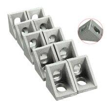 10 шт./компл. 20×20 мм Металл Алюминий Угловые Скобки Использоваться для Армирования Внутри Прямым Углом Угловых Соединений