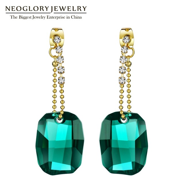 Neoglory Made With Swarovski Elements Crystal Chandelier Drop Earrings For Women 2018 New Indian Style