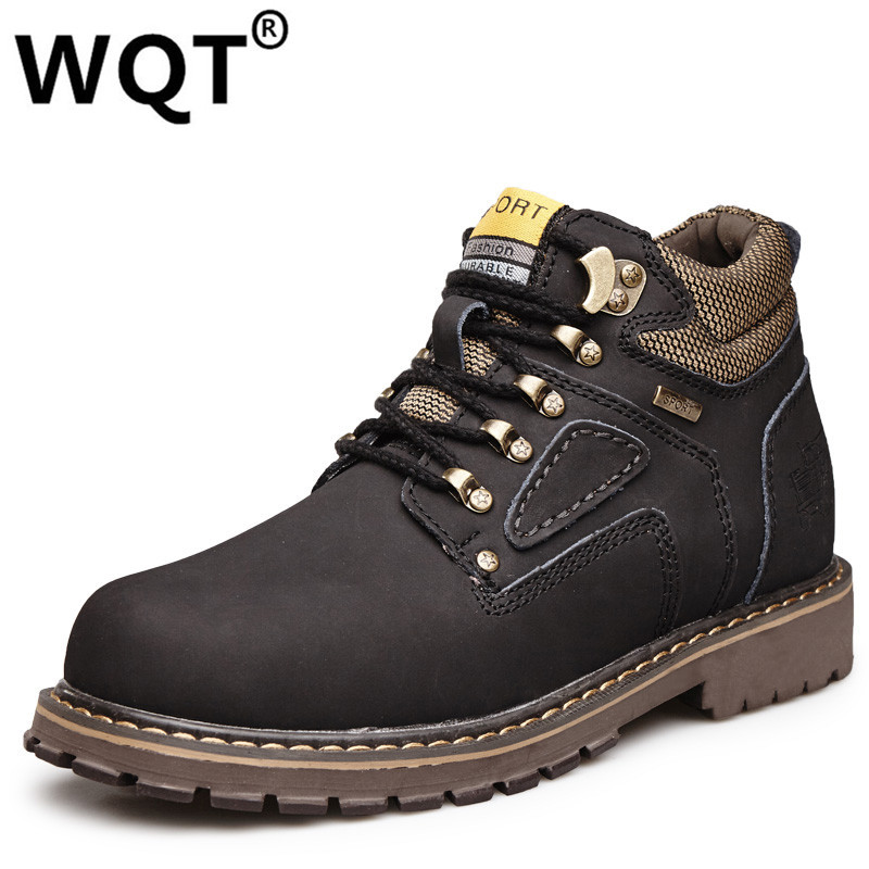 Mens Shoes Casual 2016 Winter Shoes Outdoor Men Boots Warm Genuine Leather Boots Fur Waterproof Motorcycle Boots Zapatos Hombre  plush casual suede shoes boots mens flat with winter comfortable warm men travel shoes patchwork male zapatos hombre sg083