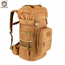 2017 New Military Tactical Backpack 50L large Capacity Camping Bags Mountaineering bag Mens Hiking Rucksack Travel