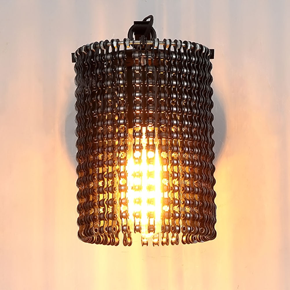 Modern Wall Lamps Sconces Iron Bicycle Chain for Restaurant Bedroom Decorative Wall Lights Lamparas Home Lighting Fixture led modern aisle wall sconces living room wall lights nordic restaurant lighting bedroom fixture novelty stairs wall lamps