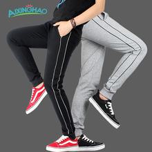 Aixinghao Boys Sports Pants Teenage 100 Cotton Kids Trousers 6 8 10 12 Children Pants