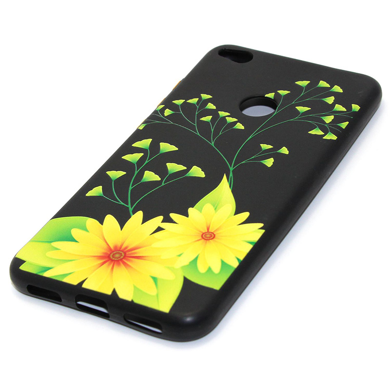 3D Relief flower silicone case huawei p8 lite 2017 honor 8 lite (25)