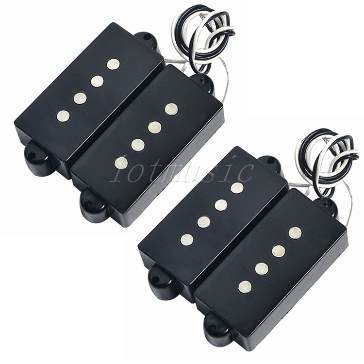 2sets black 4 string noiseless pickup humbucker pickups for precision bass guitar replacement in. Black Bedroom Furniture Sets. Home Design Ideas