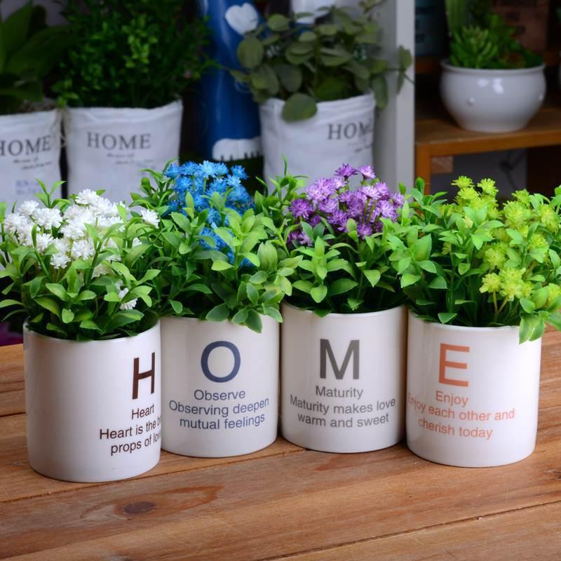 4 шт./лот искусственные растения Китай украшения дома цветок бонсай арбол искусственный бонсай с горшок