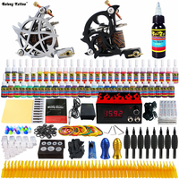 Solong Tattoo Complete Tattoo Kit 2 Pro Machine Guns 40 Inks Power Supply Foot Pedal Needles