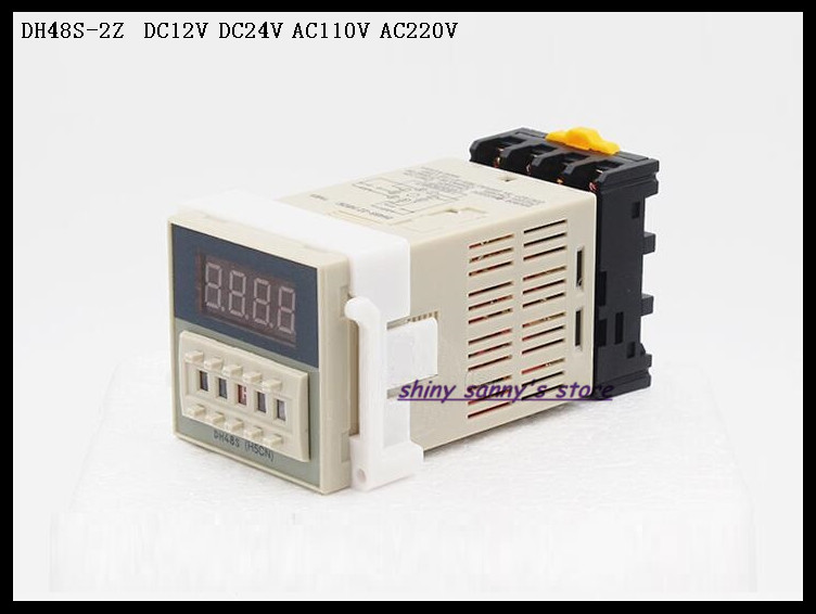 DH48S-2Z DC12V, DC24V, AC110V, AC220V Multifunction Digital Timer Relay 0.01S-99H99M On Delay 8 Pins DPDT Brand New