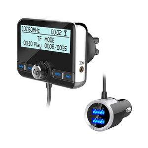 Image 5 - JaJaBor רכב DAB הדיגיטלי רדיו FM משדר Bluetooth דיבורית ערכת דיגיטלי אודיו שידור QC3.0 מהיר תשלום + אוויר Vent קליפ