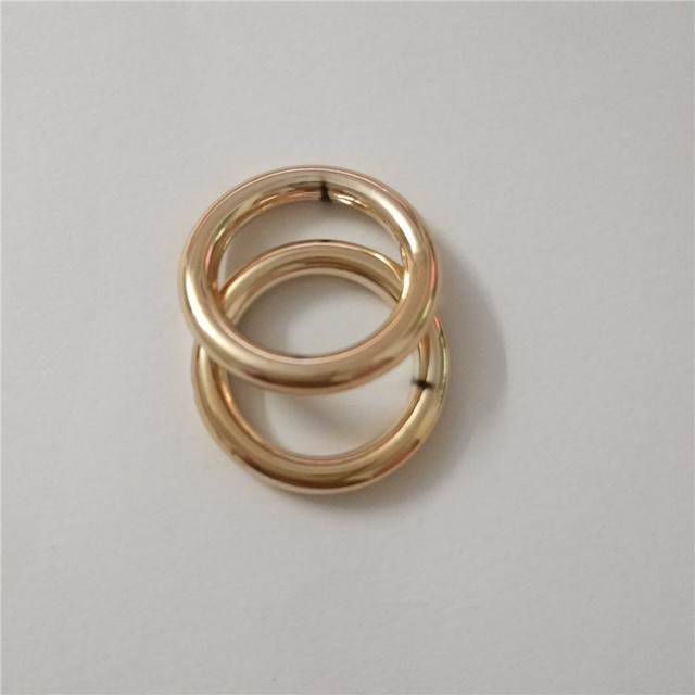 10 pcs ABS O rings Buckle Rose gold color Round plastic Buckles -in ...
