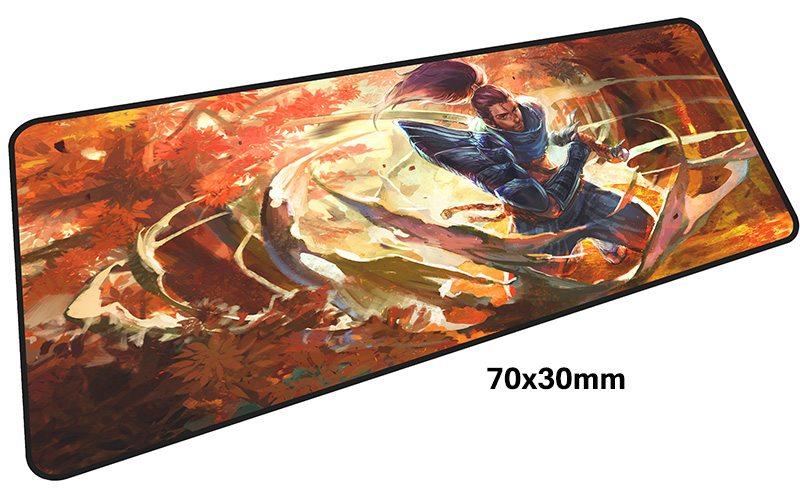 yasuo mousepad gamer 700x300X3MM gaming mouse pad large HD print notebook pc accessories laptop padmouse ergonomic mat