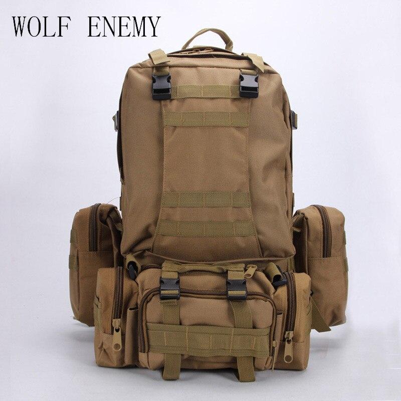 50l Molle Housekeeper Tactics Backpack Hik Waterproof 600d High Capacity Assault Travel Military Rucksacks Backpacks Army Bag