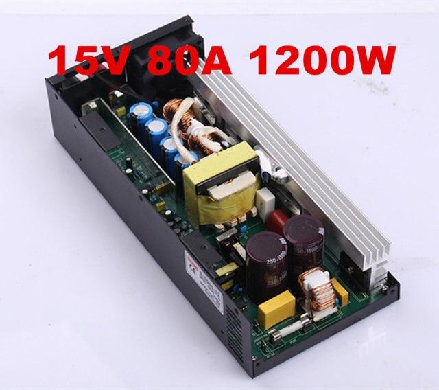 1PCS 1200W 80A 15V power supply 15V adjustable power AC-DC High-Power PSU 1200W S-1200-15 110/220VAC