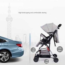 Multifunctional  Luxury Baby Stroller Folding Trolley Type High Landscape Infant Child Stroller Sit Reclining stroller usa free shipping hjbb high landscape stroller baby can sit reclining folding trolley 4 in 1 with comfortable car seat