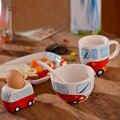 4 pcs set pratos jogo de jantar criança suplemento alimentar bebê dos desenhos animados de cerâmica copo de presente de natal crianças cerâmica conjunto de café da manhã