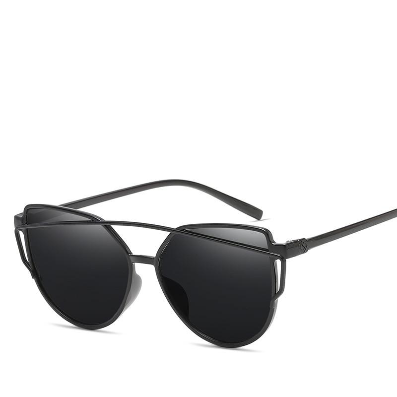 2018 New Fashion Women Colour Luxury Top Cat Eye Pink Sunglasses Elegant Oculos De Sol Men Twin Beam Sun Glasses UV400 ...