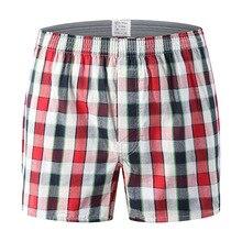 Men Underwear Boxers Plaid Loose Shorts Underwear Classic Basics Men