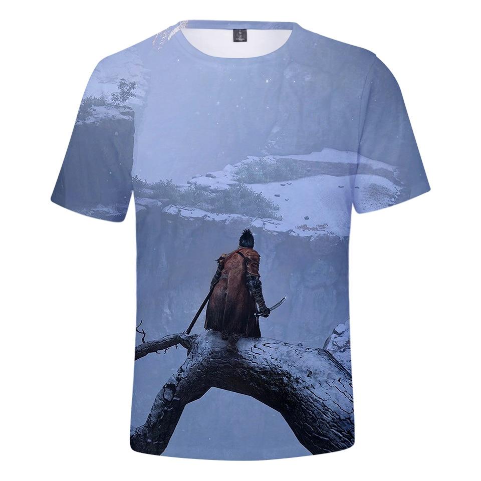 2019 Hot Game SEKIRO 3D print Tshirt Boy/Girl short Sleeve Summer Sweatshirt Leisure Game Harajuku Breathable T-shirt