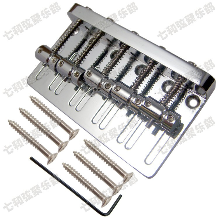 Chrome Vintage Type Heavy Duty Upgrade 5 Strings Electric Bass Bridge Free shipping