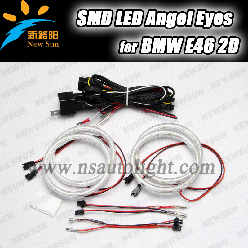 E87 102 SMD led angel eyes 3014 smd 105mm angel eyes halo rings for bmw e46 2D hid headlight angel eye led rings white 3014 smd led angel eyes headlight halo ring marker 131mm 145mm for bmw e46 non projector