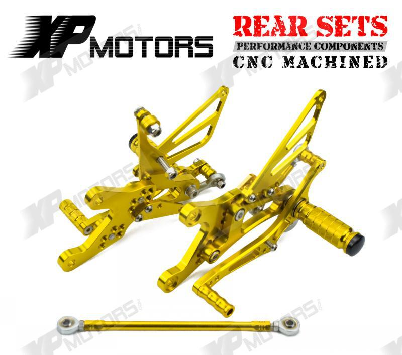 High Quality Gold CNC  Adjustable Foot Pegs Rear Sets Fits For Yamaha YZF-R1 YZF-R1 LE 2004 2005 2006