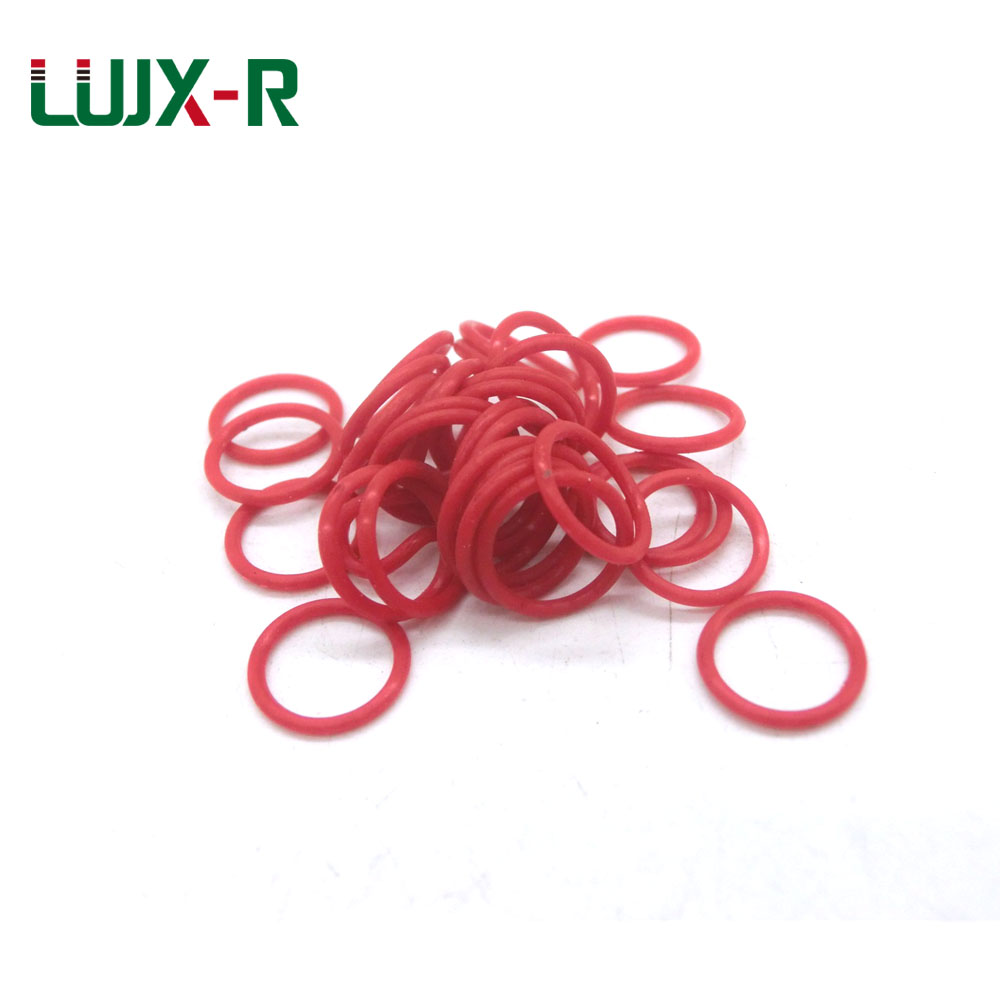 LUJX-R 1mm O Ring Seal Red Silicone Gasket Sealing Non-toxic VMQ O Ring Washer OD 18/19/20/22/28/30/32/35mm O Rings Sealing silicon vmq o ring o ring red 19x1 and 20x1