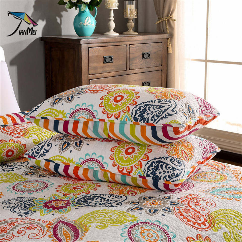 Modern quilt bedding - Aliexpress Com Buy Beddingoutlet Colored Bedspread Paisley Modern Quilt Set Colcha Bouti Floral Printed Cotton Bedclothes Bedspread Queen 3 Piece From