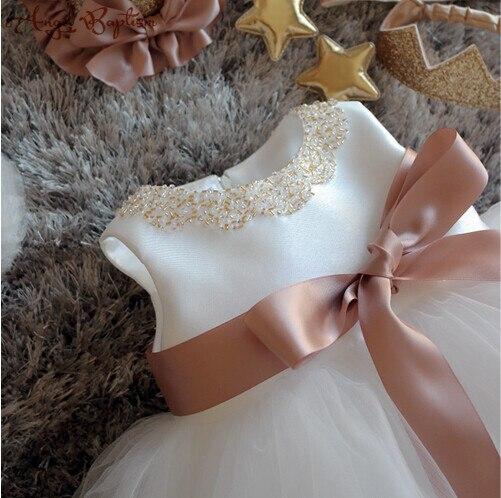 c2e3f3ad3f7f Bling Beaded Flower Girl Dress Infant newborn christening dress ...