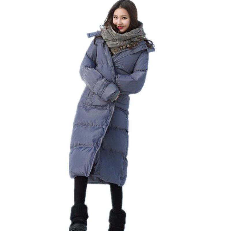 Winter High Quality Thick Long Cotton Jacket Loose Warm Padded Parka Female Outerwear Fashion Coat Casual Thick Parka TT2920 high quality thick warm wind down jacket female fashion casual cotton coat women winter coat jacket warm long outerwear overwear