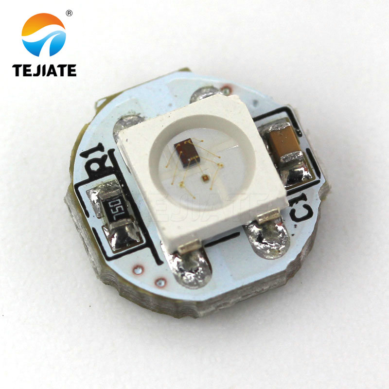 1Bit WS2812 5050 RGB LED full-color built-in driving lights Round development board