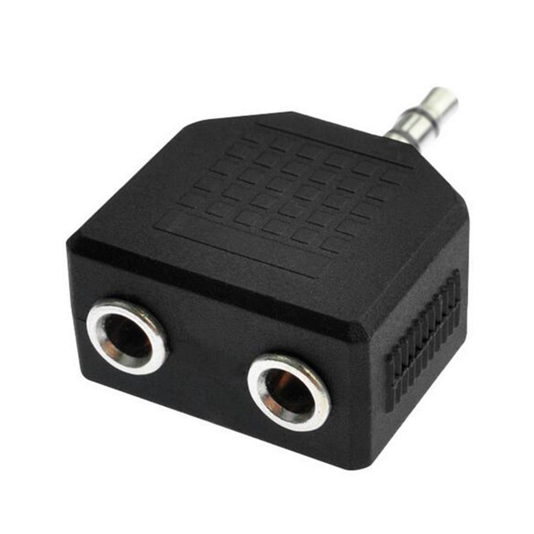 Marsnaska Gift Black Color 3 5mm 1 Male to 2 Female Double Earphone font b Headphone