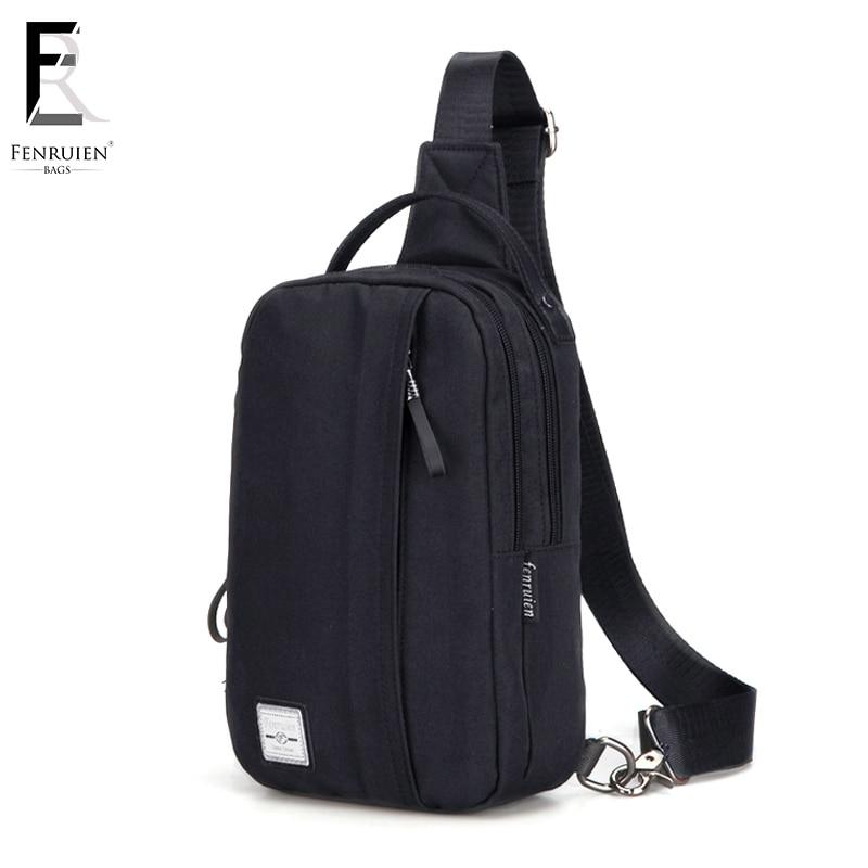 FENRUIEN New Male Chest Bag Fashion Leisure Canvas Crossbody for Men Messenger Single Shoulder Bags Strap Pack For Teenager Bag