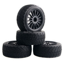 4pcs 80mm Tarmac Wheels Tires For RC HPI WR8 Rally Off Road Buggy Truck HSP 1