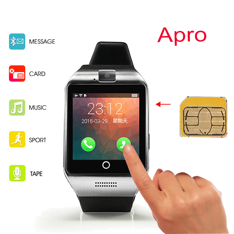 Fashion Bluetooth Smart Watch Apro font b Smartwatch b font Support NFC SIM GSM Video Camera