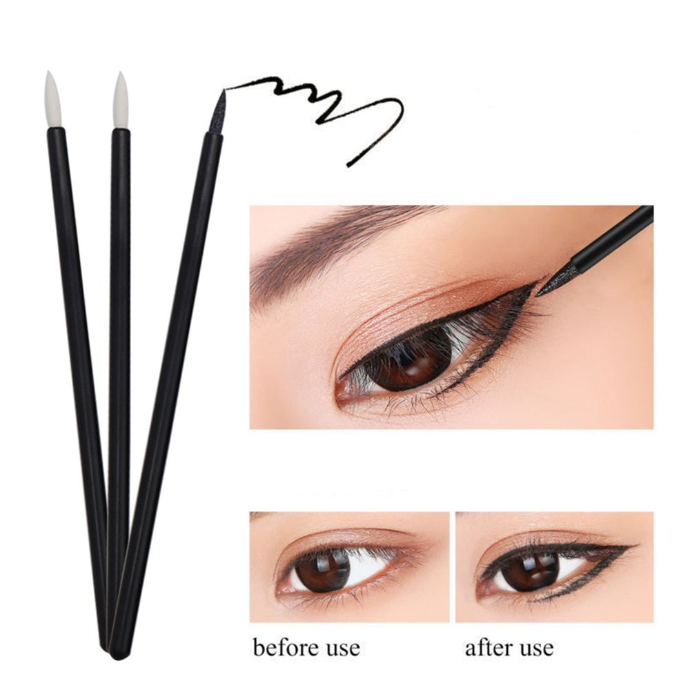 200PCS/Pack Makeup Brush Professional Disposable Hard Tip Eyeliner Eye Shadow Brush Wand Applicator Women Beauty Cosmetic Brush