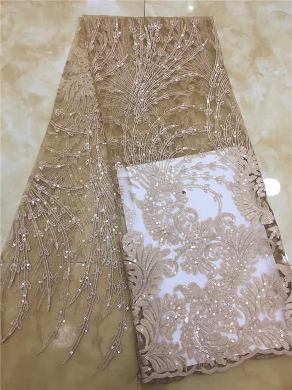 (5 10yards/lot) 2019 Novo de Alta qualidade verde esmeralda tule rendas de Veludo Africano tecido de renda líquida Francês com Lantejoulas para vestido de festa