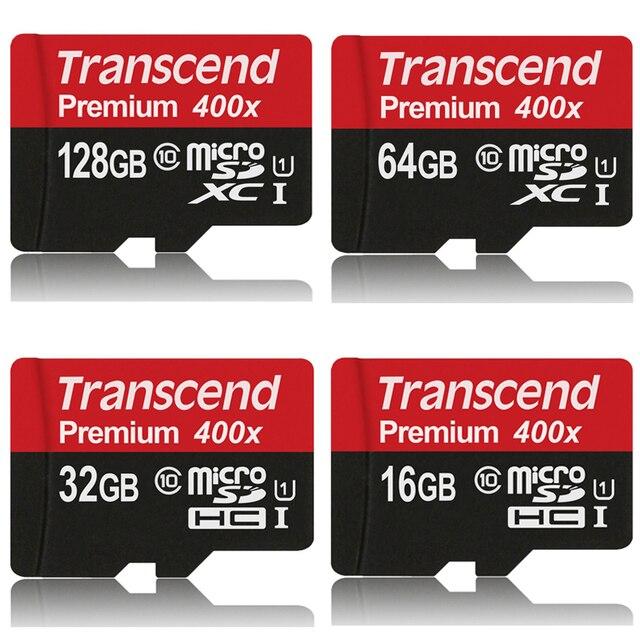 Transcend карты Памяти 128 ГБ 64 ГБ 32 ГБ 16 ГБ MicroSD MicroSDHC MicroSDXC Карты 400X class10 UHS-1 TF Карты для Телефона Tablet Камеры