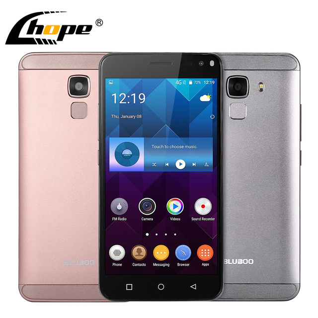 "Original BLUBOO Xfire 2 Android 5.1 5.0"" HD 3G WCDMA Smartphone MTK6580 Quad Core 1GB RAM 8GB ROM 8MP Fingerprint Mobile Phone"