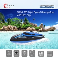 TKKJ H100 2.4G RC Boat 180 Degree Flip High Speed Electric RC Racing Boat for Pools, Lakes and Outdoor Adventure